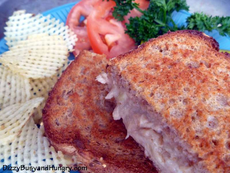Grilled Cheese and Salmon Sandwiches - A quick, easy, crispy sandwich that is both sweet and savory at the same time. Makes a great dinner for a busy family on the go!