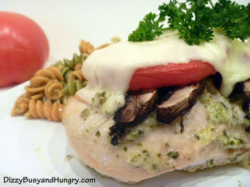 Pesto Mushroom Chicken - Minimal prep, maximum deliciousness, stylish enough to serve to guests!