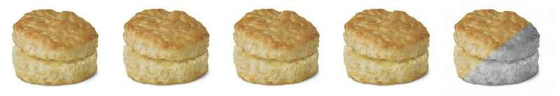 Close up shot of ranking biscuit.