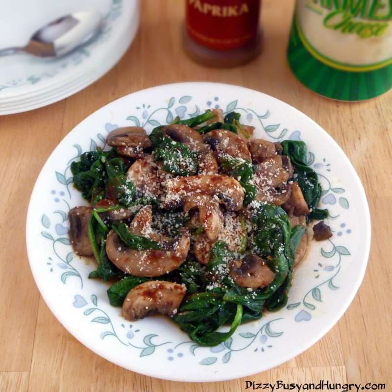 Mushrooms and Spinach with Parmesan and Paprika 3