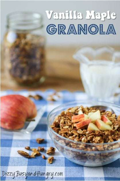 vanilla maple granola