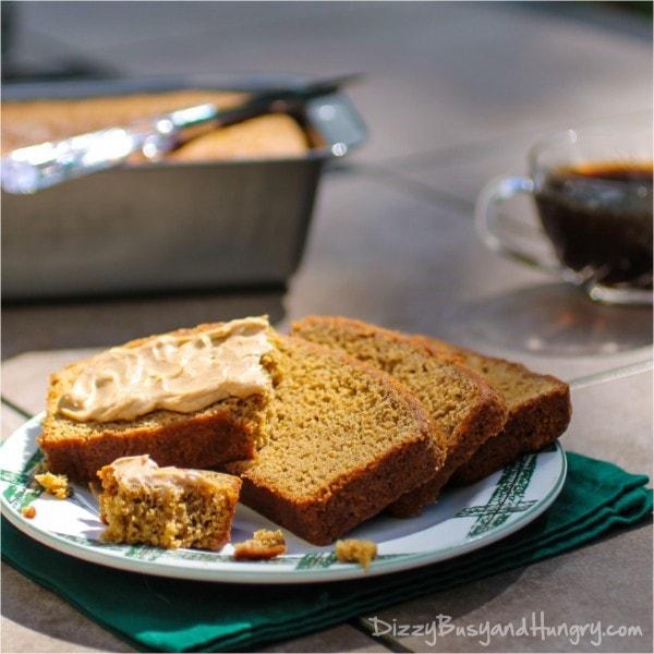 apple butter gingerbread loaf