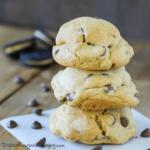 PB Oreo Stuffed Chocolate Chip Cookies