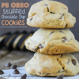 pb oreo stuffed chocolate chip cookies