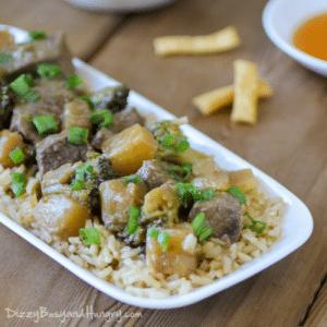 slow cooker pineapple beef teriyaki