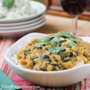 Slow Cooker Red Lentil Curry from DizzyBusyandHungry.com