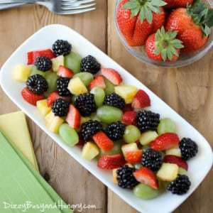 Berry Delicious Fruit Salad from DizzyBusyandHungry.com