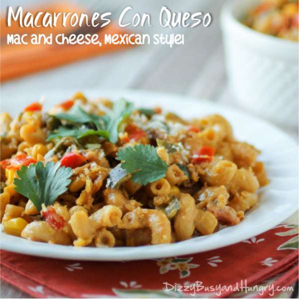 Mexican Mac and Cheese from DizzyBusyandHungry.com