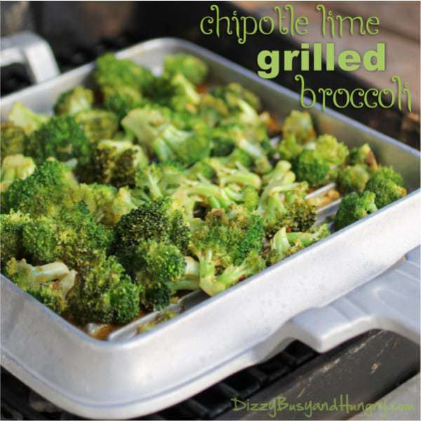 Chipotle Lime Grilled Broccoli from DizzyBusyandHungry.com