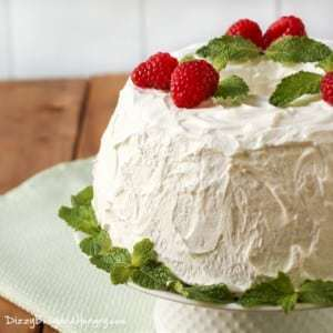 Mom's Refrigerator Cake | DizzyBusyandHungry.com - Chocolate fudge frosting between layers of light, fluffy angel food cake smothered in whipped topping!