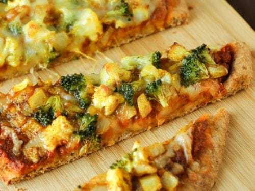 Curried Veggie Pizza Dizzy Busy And Hungry