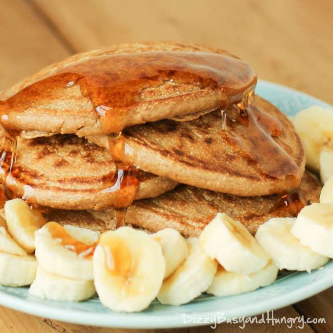 CoCo Wheat Pancakes | DizzyBusyandHungry.com - Delicious, hearty pancakes made with wholesome CoCo Wheat hot cereal!