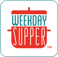 Close u of the weekday supper logo.
