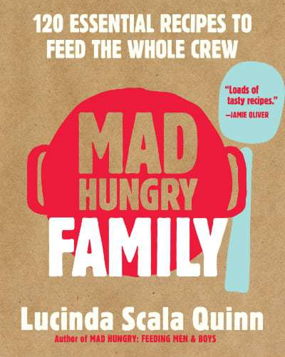 "A close up of the book ""Mad Hungry Family."""