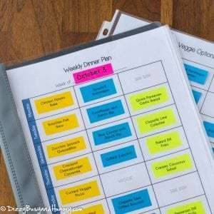 Dinner Planning Tips Plus FREE Printable Planner | DizzyBusyandHungry.com - Having trouble finding the time and/or energy to plan your meals ahead of time? Here's a strategy that works!