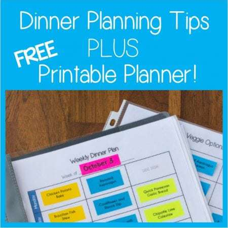 Dinner Planning Tips and FREE Printable