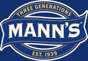 Close up of a Three Generations Mann\'s logo.