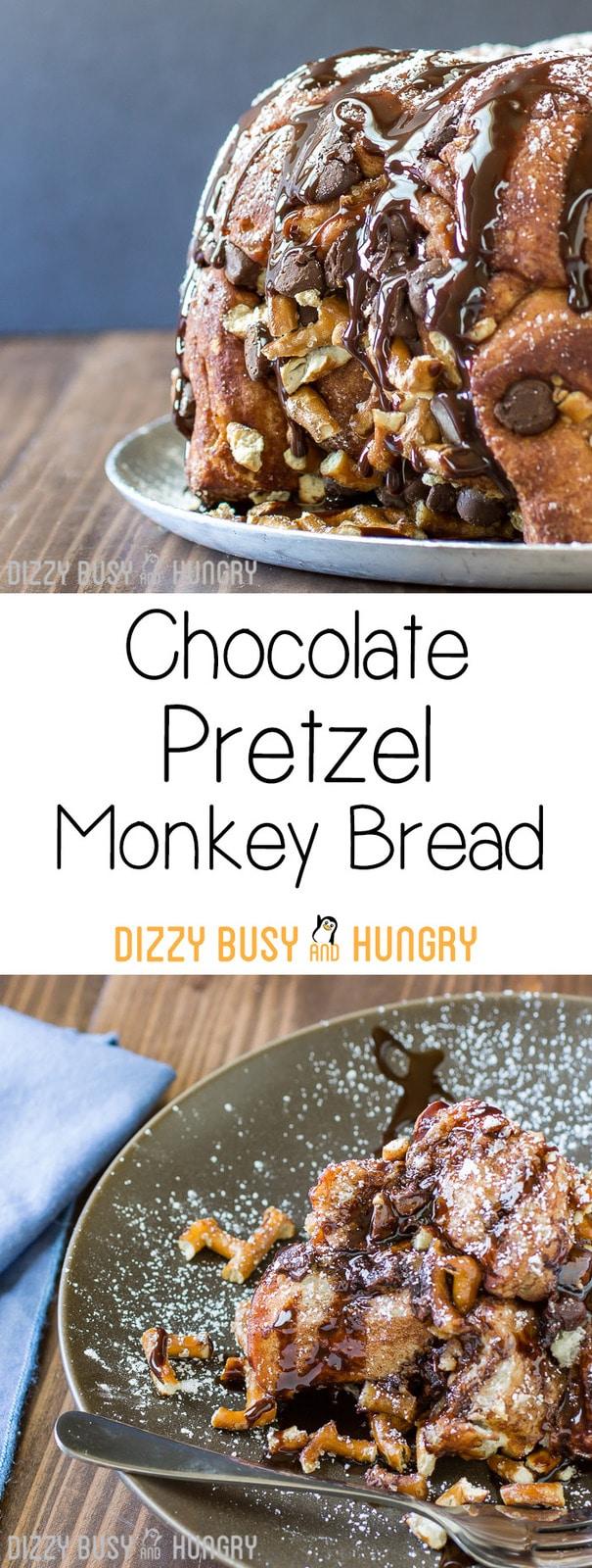 Chocolate Pretzel Monkey Bread Pin