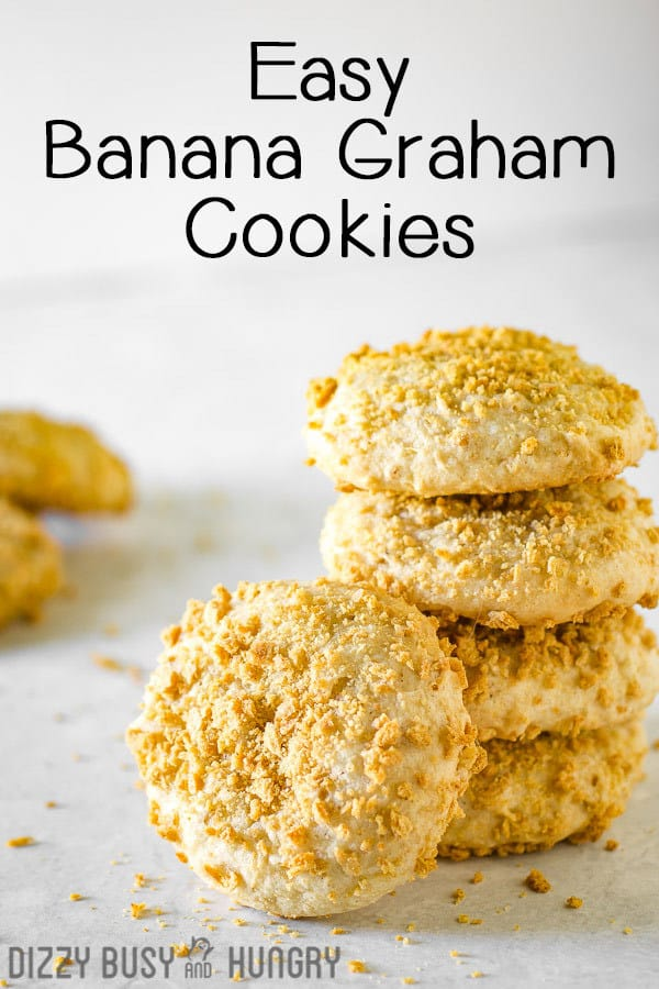 easy banana cookie recipe - photo of stacked cookies