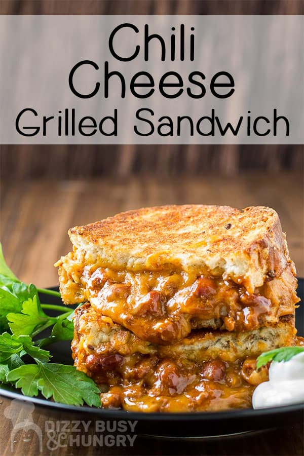 Chili Cheese Grilled Sandwich Dizzy Busy And Hungry