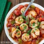 close up of easy shrimp stew recipe