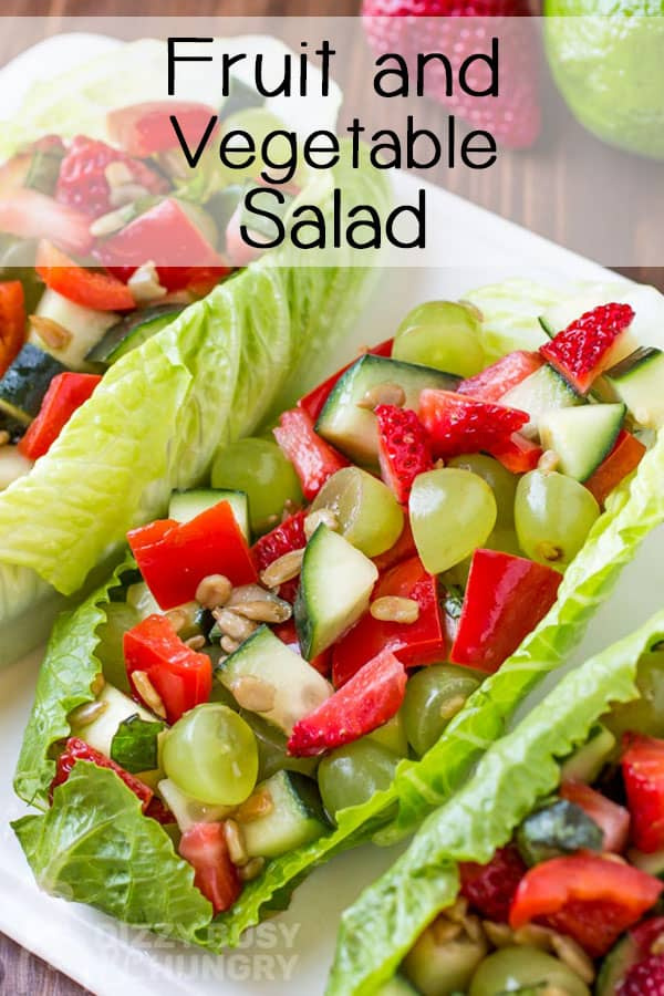 Fruit And Vegetable Salad Dizzy Busy And Hungry