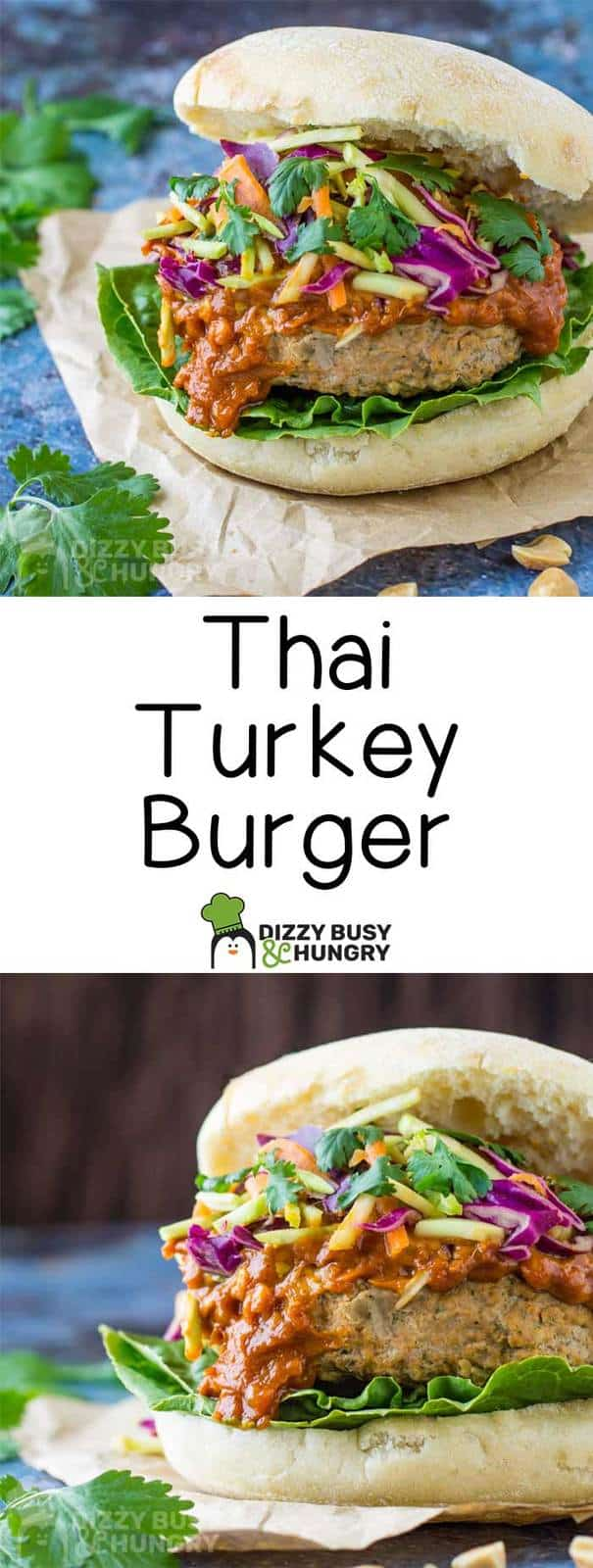 Long pin for homemade burger recipe of Thai turkey burgers