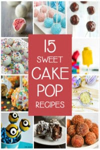 Collage of 10 cake pop recipes with text in the center