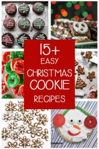 rectangular collage of 6 delicious looking christmas cookies