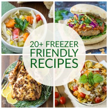 collage of 4 freezer friendly recipes