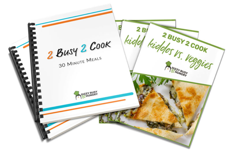 photo of ebook covers for 30 minute meals and kiddos vs veggies