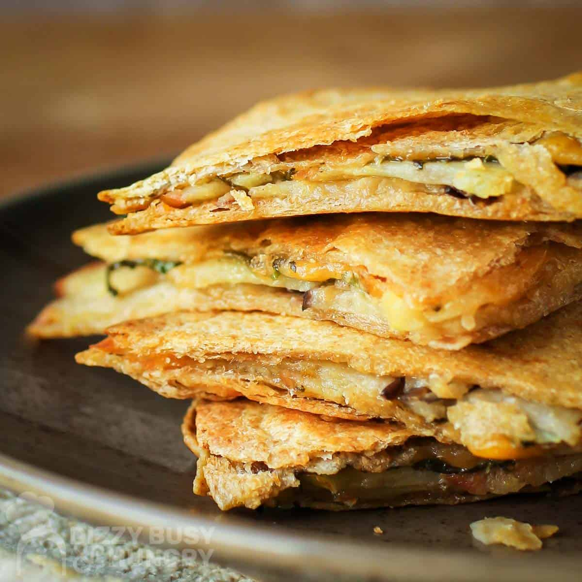 Eggplant Apple Vegetarian Quesadillas Recipe Dizzy Busy And Hungry