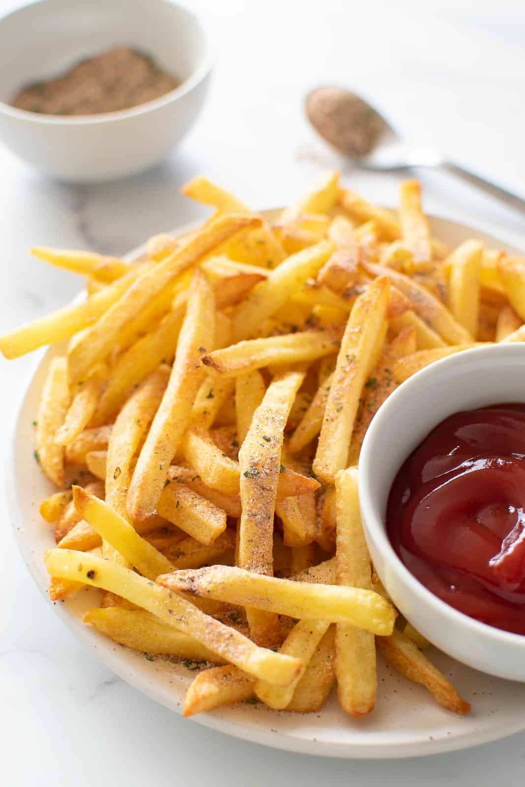 French fries with seasoning.