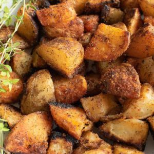 Crispy sauteed potatoes.